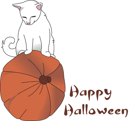so that: This Thanksgiving design is perfect for feline lovers!  A cat at play on a pumpkin is so perfect for that special fall dcor!
