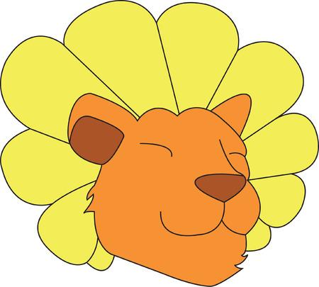 Dit elegant leeuw is samengesteld om te kijken als een paardenbloem. Een hakmes spel op woorden maakt voor een super sweet design.