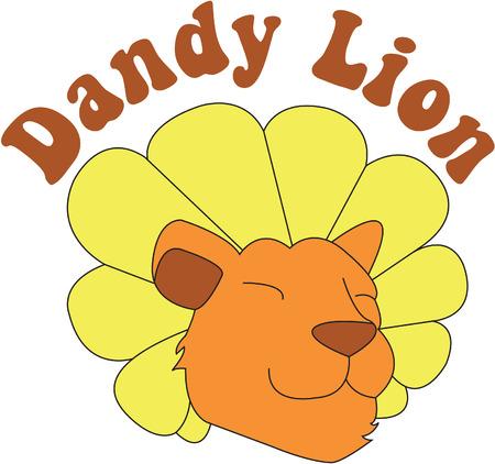 Deze dandy leeuw is gemaakt om eruit te zien als een paardenbloem. Een hakspel op woorden zorgt voor een super lief ontwerp.