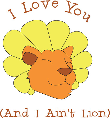dandy: This dandy lion is made up to look like a dandelion.  A cleaver play on words makes for a super sweet design.