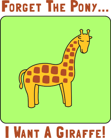 This little giraffe adds a sweet touch of the jungle to your embroidery.  The silky fill stitch background helps the giraffe to stand out and get noticed.