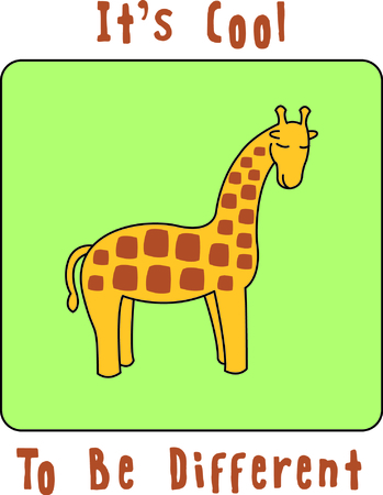 get in touch: This little giraffe adds a sweet touch of the jungle to your embroidery.  The silky fill stitch background helps the giraffe to stand out and get noticed.
