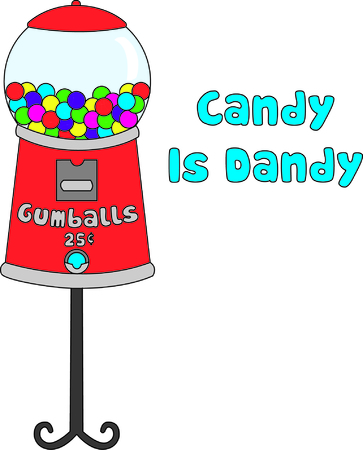 Tasty gumballs in a retro style gumball machine make a interesting way to decorate - especially for the little guys!  The colors create an amazing way to showcase your embroidery talents!