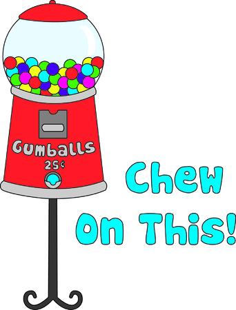 Lekkere kauwgomballen in een retro stijl gumballmachine maak een interessante manier om te versieren - vooral voor de kleine jongens! De kleuren zorgen voor een geweldige manier om de presentatie van uw talenten te borduren!