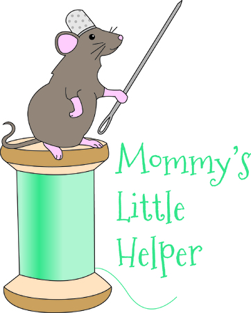 awl: Every seamstress needs a little helper and this is the cutest helper ever!  You can use this little sewing mouse for so many projects from shirts to bags! Illustration