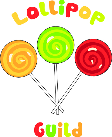 Sweet lollipops to decorate your favorite food projects or kid projects.  Yummy detail makes these candies a real stand out!