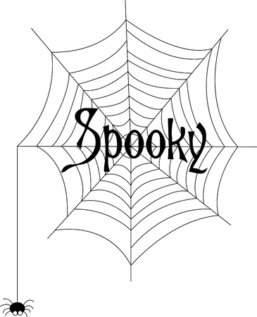 arthropod: Our little spider has worked and worked to create this amazing web just for your Halloween decorations!