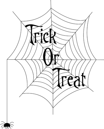 Our little spider has worked and worked to create this amazing web just for your Halloween decorations!