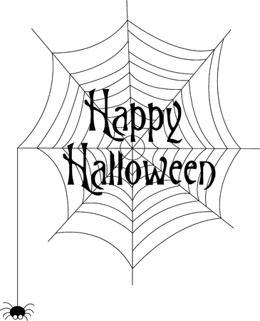 worked: Our little spider has worked and worked to create this amazing web just for your Halloween decorations!