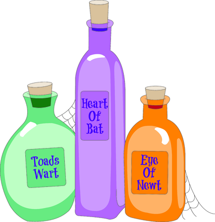 wart: the ingredients you need to create your amazing, magical potion illustration  Illustration
