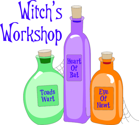 Spell maker at work!  Toads wart, heart of bat, eye of newt, just the ingredients you need to create your amazing, magical potion!