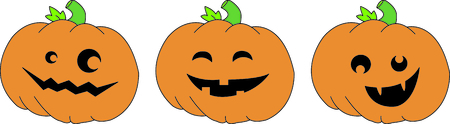 hallows: Create a fun border of smiling jack o lanterns.  What a fun twist to Halloween fun!