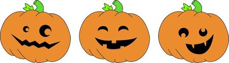 jack o  lanterns: Create a fun border of smiling jack o lanterns.  What a fun twist to Halloween fun!