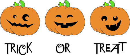 Maak een leuke grens van het glimlachen hefboom o lantaarns. Wat een leuke draai aan Halloween plezier! Stock Illustratie