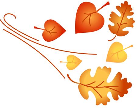 Blätter Werden Und Auf Den Boden Fallen. Es Muss Herbst Sein. Die ...