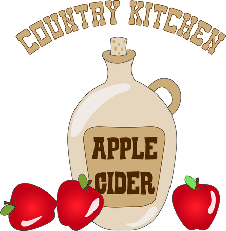 country kitchen: A taste treat in a bottle - apple cider a warm treat for cool weather.  Stitch it up on your fall projects for a warm and cozy feel.