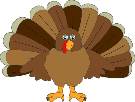 A cute gobbler all ready for your Thanksgiving stitching.  He is a super cute little bird and makes quite an impression! 일러스트