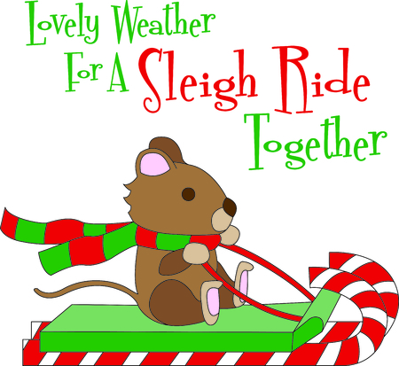 toboggan: May your days be merry and bright.  Include this design with your Christmas party decorating. Everyone will love it!