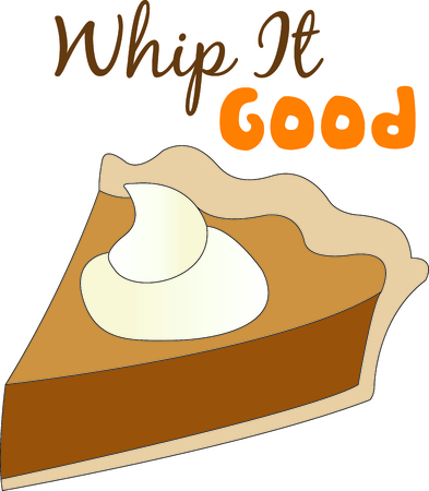 whip cream: Dessert is the best part of the meal!  Yummy pie with a dot of whipped cream is the perfect embellishment for your kitchen projects.