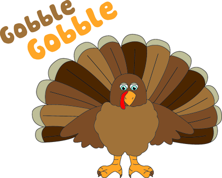 A cute gobbler all ready for your Thanksgiving stitching.  He is a super cute little bird and makes quite an impression! Illustration
