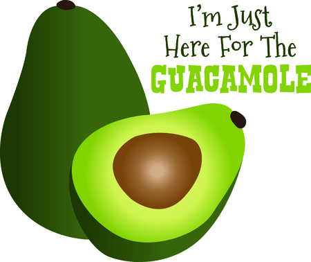 delight: Got guacamole  Create a culinary delight with lovely green avocados.  Create a visual delight with this lovely food design.