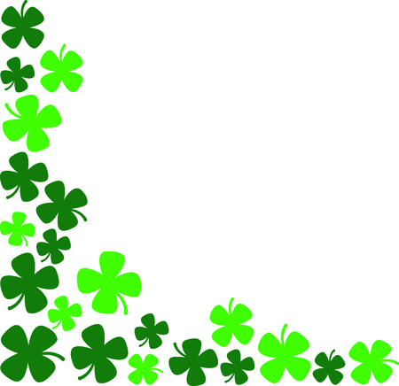 paddys: Pretty shamrocks create a perfect corner for special St. Patricks Day hankies.  The shades of green make this an eye catching thread creation. Illustration