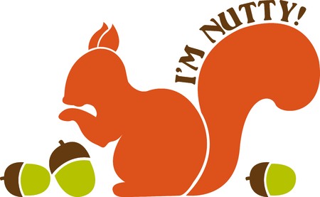 marmot: This squirrel is just nutty about acorns!  The silhouette is simple to stitch yet creates a stunning effect.