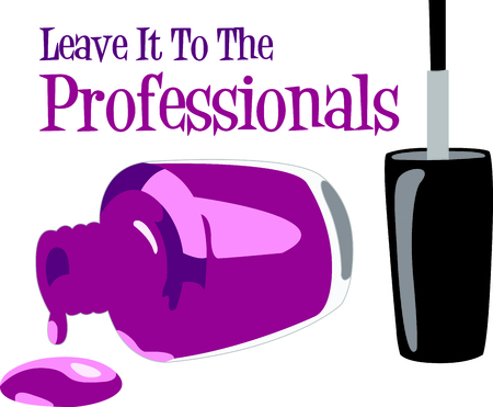 nail polish bottle: You entrust your hair to your stylist.  This design is perfect for thanking them! They will love it!