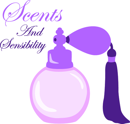 eau de perfume: You entrust your hair to your stylist.  This design is perfect for thanking them! They will love it!