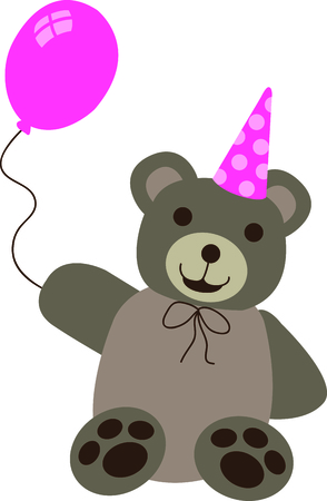 Give this bear to a girl to remember her birthday all year long.  She will love it!