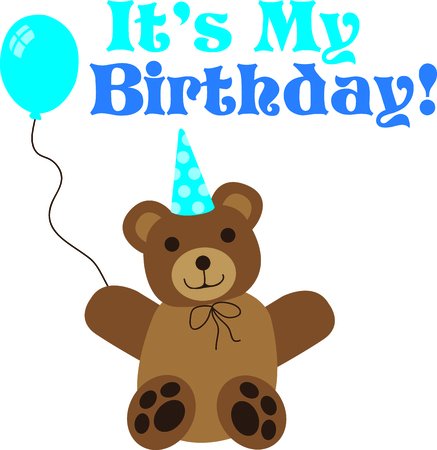 Give this bear to a boy to remember his birthday all year long. Illustration