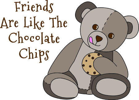 cubby: Share a sweet treat with this cute little bear.  If he wasnt the sweetest thing already, a cookie makes it just perfect.