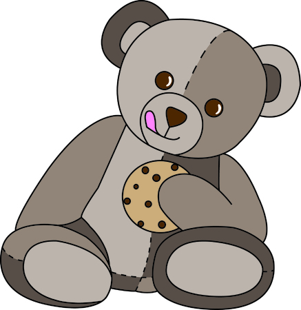 stuffed animal: Share a sweet treat with this cute little bear.  If he wasnt the sweetest thing already, a cookie makes it just perfect.