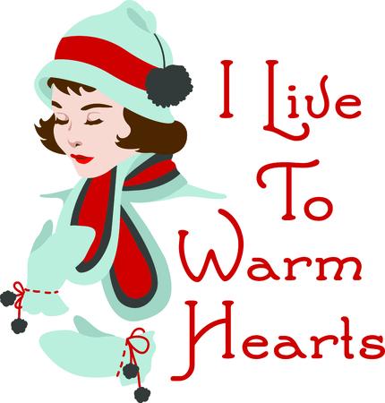 このかわいいクリスマスの女の子、あなたの設計の休日の喝采を送る。