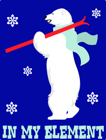 Send holiday cheers in your design with this cute polar bear.