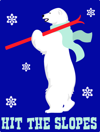 critter: Send holiday cheers in your design with this cute polar bear.