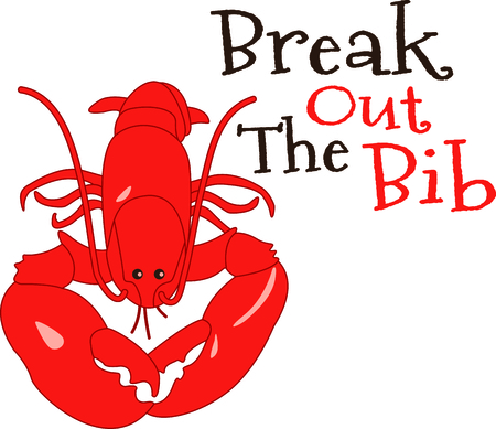 here's: Heres a great reason to savor the sea.  The lobster claw is the best part of the lobster. Illustration