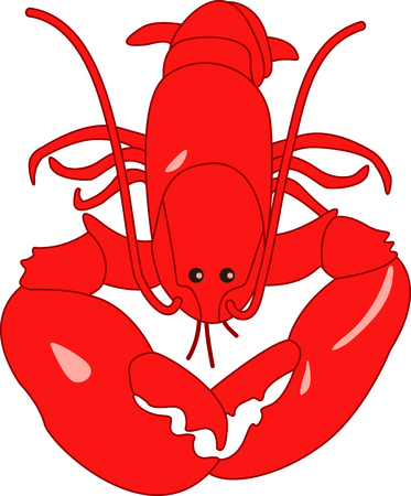 Heres a great reason to savor the sea.  The lobster claw is the best part of the lobster. Ilustração