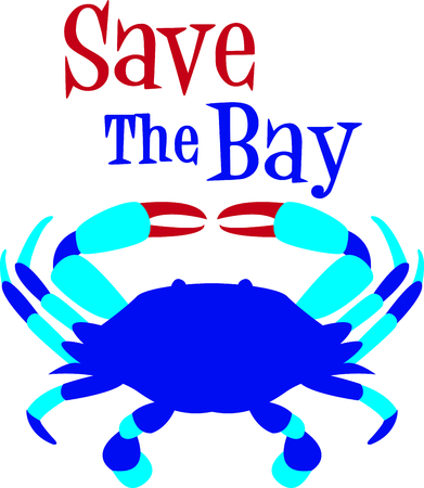 This blue crab is perfect for your beach house design. Иллюстрация
