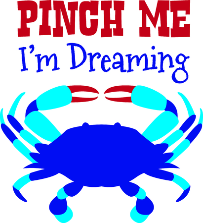 blue crab: This blue crab is perfect for your beach house design. Illustration