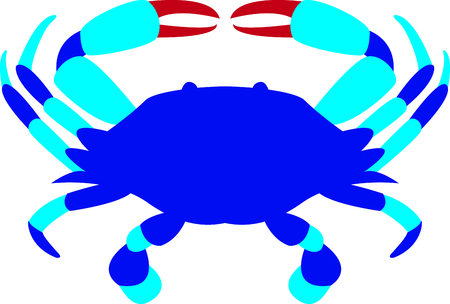 This blue crab is perfect for your beach house design. Ilustrace
