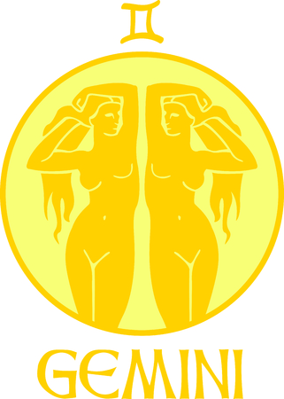astrological: Display your astrological sign with this beautiful twin for the sign Gemini.
