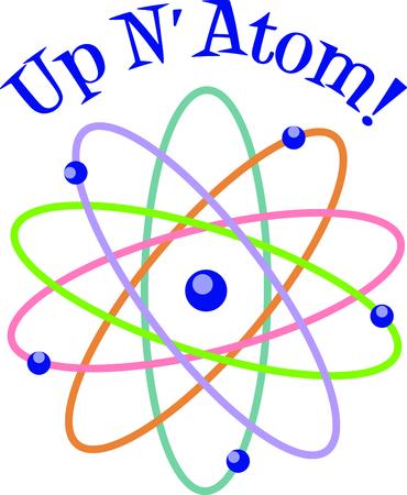 この原子モデルは、子供のため、デザインに追加する完璧なイメージです。