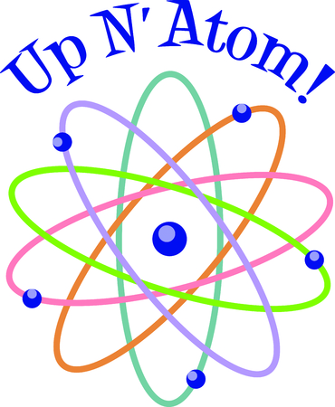 ion: This atom model is a perfect image to add to a design for a child.