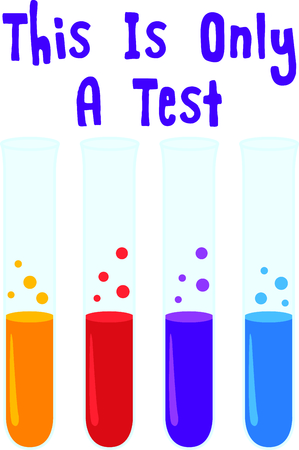 This test tubes are a perfect image to add to a design for a child.
