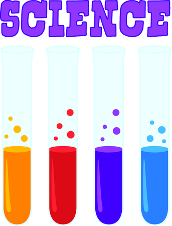fluids: This test tubes are a perfect image to add to a design for a child.