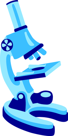 magnification: This microscope is a perfect image to add to a design for a child. Illustration