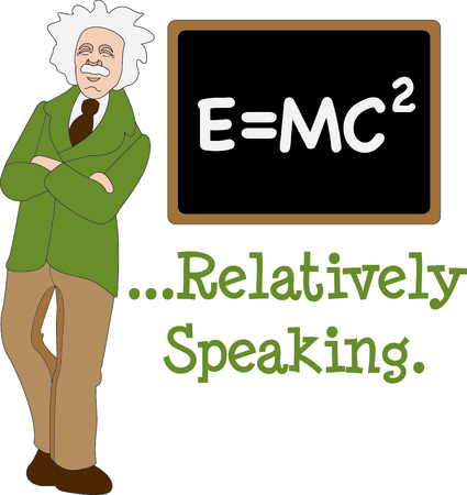 This Albert Einstein design is a perfect image to add to a design for a science classroom. Imagens - 43679218
