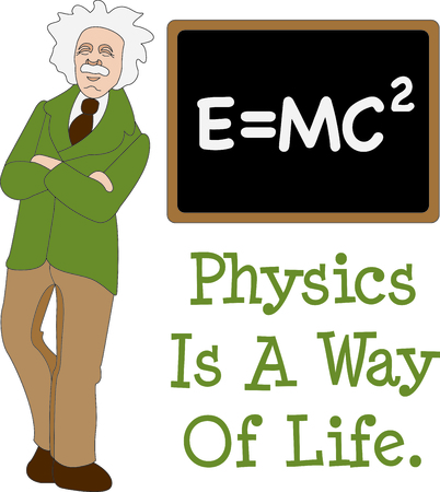 This Albert Einstein design is a perfect image to add to a design for a science classroom. Imagens - 43679219