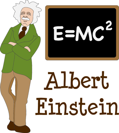 This Albert Einstein design is a perfect image to add to a design for a science classroom. Imagens - 43679220
